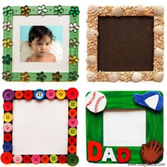Craft Stick Photo Frame - so simple, perfect gifts for grandparents....