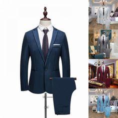 Grey Smart Casual Street Men Suit for Wedding Suit Men Blazer Coat Jacket Party Prom Slim Fit Tuxedo Suit with Pants Custom Made Slim Fit Tuxedo, Tuxedo Suit, Tuxedo For Men, Prom Suits For Men, Mens Suits, Suit Men, Prom Suit Green, Custom Tailored Suits, Wedding Suits