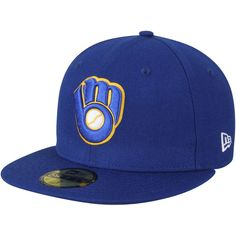 Milwaukee Brewers New Era Cooperstown Collection Wool Standard 2 59FIFTY Fitted Hat - Royal