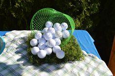 Golf party decor