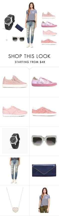 """Pink Sneakers..**"" by yagna ❤ liked on Polyvore featuring Giuseppe Zanotti, Philippe Model, Tod's, Golden Goose, Coach, Gucci, R13, Rebecca Minkoff, SUSAN FOSTER and Brooks Brothers"