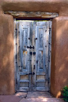 Santa Fe Door to the Courtyard by Geraint Smith.