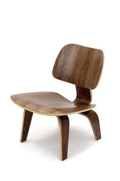 Amazon.com: Lexington Modern Molded Plywood Lounge Chair, Walnut: Home & Kitchen