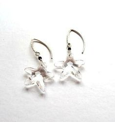 Swarovski Star Crystal earrings in Sterling by iAdoreCoutures, $32.99