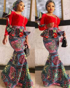 2020 Ankara Skirt and Blouse Stunningly Cute Styles for Beautiful Ladies to try out African Lace Dresses, Latest African Fashion Dresses, African Print Fashion, Ankara Fashion, Couples African Outfits, African Attire, African Wear, African Print Dress Designs, African Design
