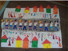 ...Το Νηπιαγωγείο μ' αρέσει πιο πολύ.: 28η Οκτωβρίου . Ομαδικές εργασίες και πατρόν. 28th October, Autumn Crafts, Art Plastique, Preschool Activities, Advent Calendar, Triangle, Arts, Holiday Decor, Bricolage