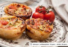 Paradicsomos-pórés mini quiche Recipe Mix, Quiche, Atkins, Minion, Ricotta, Tofu, Food Inspiration, Baked Potato, Tapas