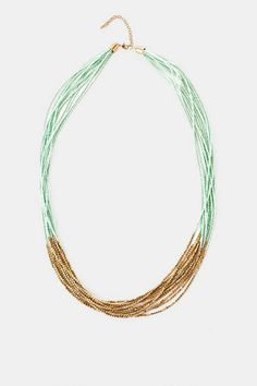 Mombasa Beaded Necklace in Mint