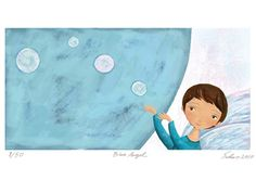 Blå engel Blue Angel A3 Signert trykk Blue Angels, Sign Printing, A3, Illustrations, Illustration, Illustrators