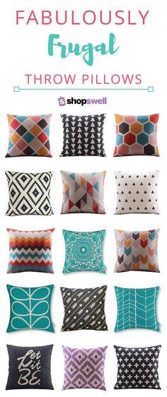 Modern home decor doesn't have to cost and arm and a leg. Just check out this collection of throw pillows, they're all $15 or less! Shop the collection now.