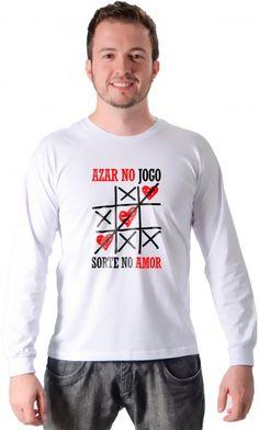 Camiseta - Sorte no amor - Camisetas Estampadas,Engraçadas   Camisetas Era Digital