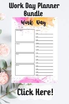 Daily Work Planner, Hourly Planner, Printable Planner, Letter Find, What Is Your Name, Day Planners, Handmade Accessories, Stress Relief, Entrance