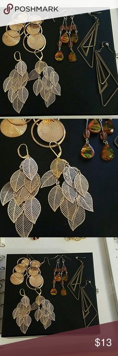 4 pair bundle No flaws!!! Cute and dandley...all earth tones. Fast ship!!! Jewelry Earrings