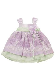 Girls Lovely Lilac Easter Dress<BR>Now in Stock!<br>4 to 6X