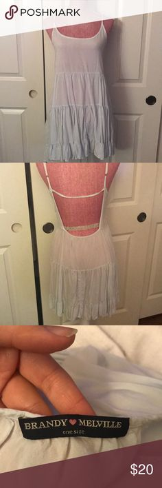 Brandy Melville Jada dress in light blue Brandy Melville Jada Dress One Size. EUC offers accepted Brandy Melville Dresses Midi