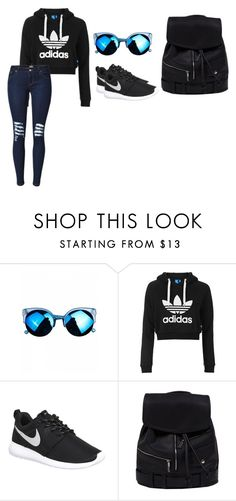 """Contra las reglas"" by simplyreese on Polyvore featuring Topshop and NIKE"