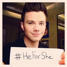 Chris Colfer for gender equality. we need more men like this. Emma Watson you are one Amazing women, role model to us all