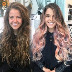 Trendy Hair Color Picture DescriptionWant to try ombre hair, but not sure what look? We have put together a list of the hottest ombre looks for you to try! Why not go for a new exciting look? Pink Ombre Hair, Ombre Hair Color, Rose Gold Ombre, Light Pink Hair, Brown Pink Ombre, Hair Colors Rose Gold, Pink Bayalage, Blonde Pink Balayage, Blue Brown