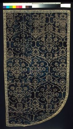 Cope Fragment Date: 15th century Culture: Italian Medium: Silk Dimensions: 32 1/4 x 18 1/2 in. (81.9 x 47 cm) Classification: Textiles-Velvets