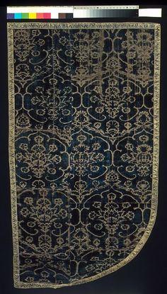 Cope Fragment ~ 15th century ~ Italian ~ Silk Textiles-Velvets ~ Metropolitan Museum of Art