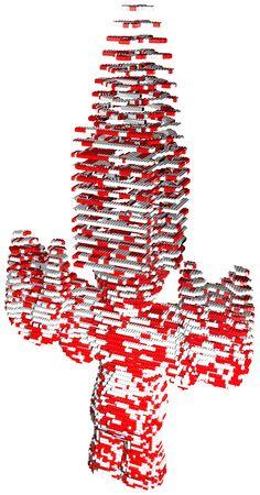 Rendered 3D visualisation Lego