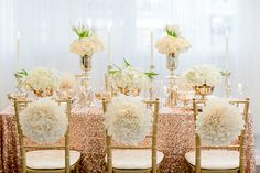 rosegold wedding decor stylized shoot whimsical chair poof decor wedding chicks