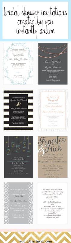 Bridal shower invitations. Click here to get started. http://www.mydreamlines.com/2016/05/bridal-shower-invitations/ #bridalshowerinvites #bridalshowerinvitations #bridalshower