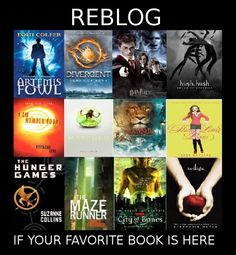Divergent, Harry Potter, Matched, Narnia (The Lion, The Witch, and the Wardrobe), The Hunger Games
