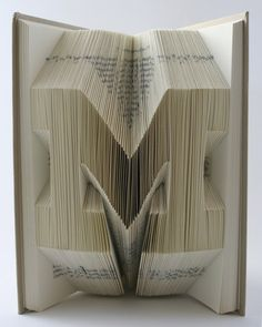 Book sculpture via folded pages