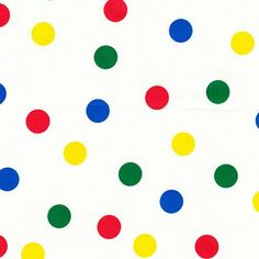 Primary Dots Fabric | Carousel Designs