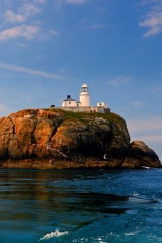South Bishop Lighthouse, Pembrokeshire, Wales -by Ian Cowe