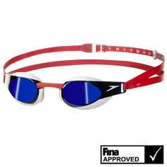 Speedo FastSkin3 Elite Goggles Mirrored Red/White