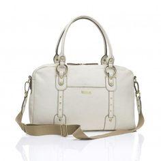 1dd8fbaf1 Storksak Elizabeth Changing Bag - Chalk Baby Changing Bags, Changing Mat,  Leather Diaper Bags