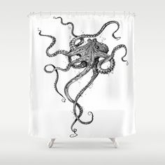 Octopus Shower Curtain (by TAOJB)   www.Society6.com