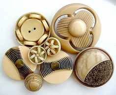 Lot of Various Vintage Celluloid Buttons by BecaliJewels