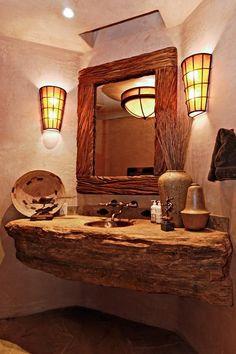 natural wood sink top