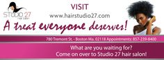 Hair Studio 27 will be giving the VERY BEST Hair Care South Boston has to offer and a treat everyone deserves. http://www.hairstudio27.com