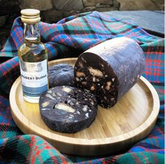 Perfect for Burns Night - Chocolate Haggis! aka a boozy Chocolate, Shortbread and Whisky Fridge Cake