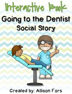 Use this interactive book as a social story in preparation for going to the dentist! Includes scenes to move people/objects onto, mini-social story books, Wh questions, and more!