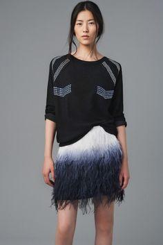 Zara: lookbook agosto 2012 falda de plumas