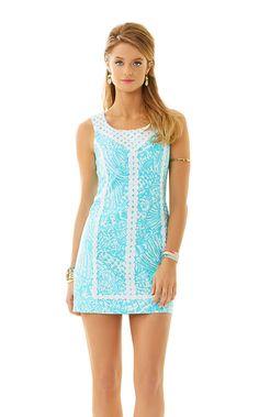 de2bb951ee4c MacFarlane Lace Detail Shift Dress - Lilly Pulitzer Cute Dresses