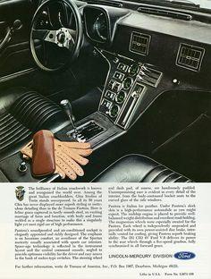 1971 DeTomaso Pantera Interior, Imported for Lincoln-Mercury .