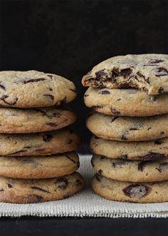 receta de galletas con chispas de chocolate - Postreadiccion