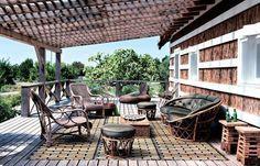 Charmante maison de vacances version cabane, Comporta, Portugal : une terrasse en plein coeur de la nature