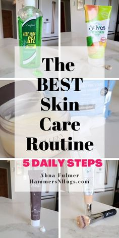 Prevent skin cancer, promote anti-aging, and maintain a clearer complexion with these 5 healthy skin care routine steps. Tap on the pin for these skin care tips and more with Ahna Fulmer//HammersNHugs.com. #skincare #skintips #skincaretips #antiaging #skincareroutine Skin Tips, Skin Care Tips, Skin Gel, Skin Care Routine Steps, Healthy Skin Care, Wellness Tips, Good Skin, Hugs, Wonderful Wednesday