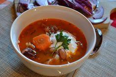 Erdélyi tárkonyos bableves Recept képpel - Mindmegette.hu - Receptek Thai Red Curry, Ethnic Recipes, Food, Essen, Meals, Yemek, Eten