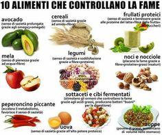 10 alimenti che controllano la fame (dal web)