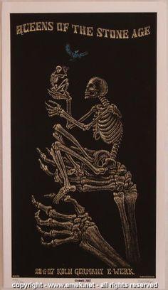 2007 Queens of the Stone Age - Koln Silkscreen Handbill by Emek