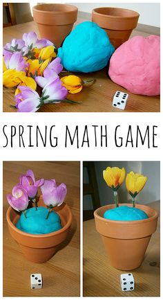 """""""Plant the Flowers"""" Spring Math Game - A colorful, spring-themed way for kiddos to explore early math concepts"""