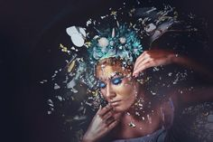 Makeup and Hair: Stacy Leigh with Fables Cosmetics Headdresses: Rae Beth Designs Model: Olivia Morgan Photography: Alana Beall wit. Olivia Morgan, Design Model, Artwork, Hair, Photography, Work Of Art, Photograph, Auguste Rodin Artwork, Fotografie